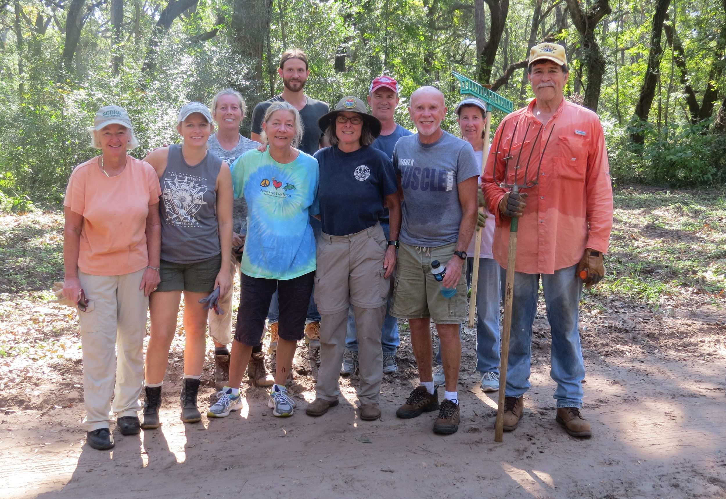 Volunteers from all over the state -- and even visitors from out of state -- have helped SCDNR staff clean up the heavy debris at Botany Bay Plantation.