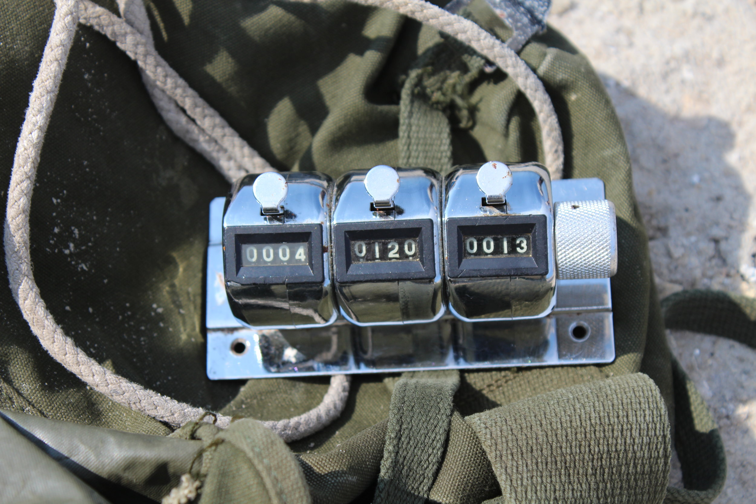 Staff and volunteers use these clickers to tally the number of nests they see for each species. (Photo: E. Weeks/SCDNR)