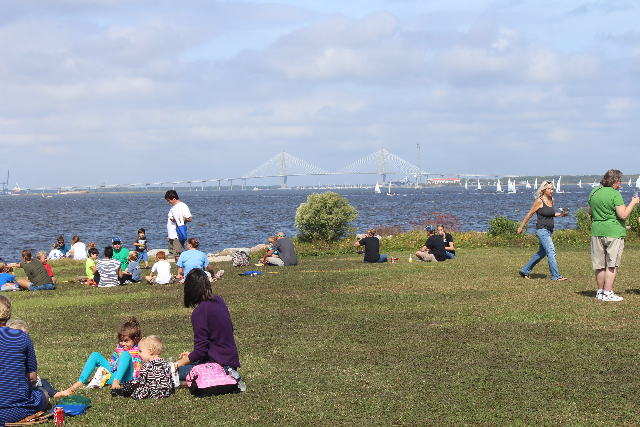 Bring a picnic or buy a lunch on site and enjoy the beautiful views from our Marine Resources Center.(Photo: E. Weeks/SCDNR)