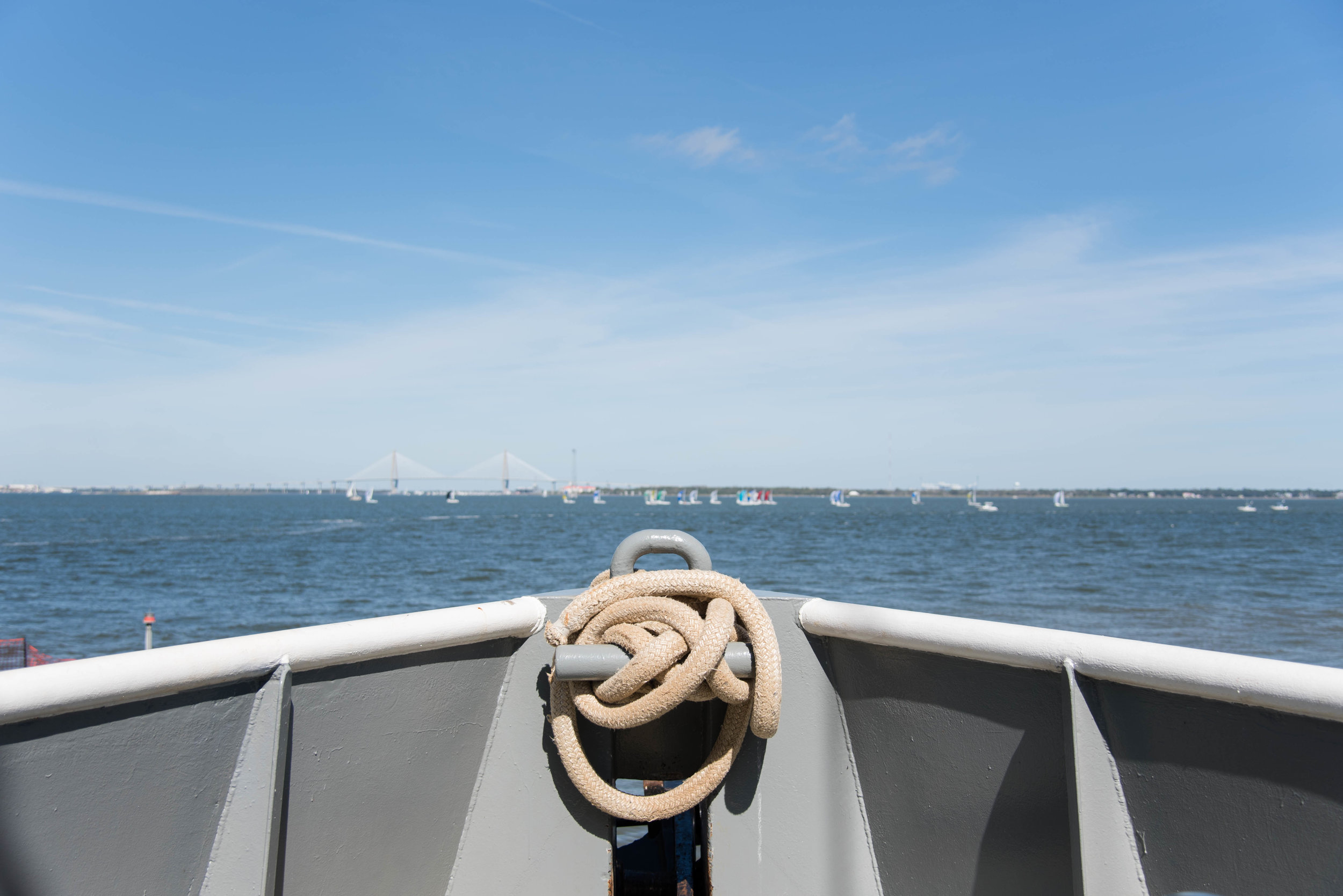 Can't beat the view from the bow of the R/V Palmetto. (Photo: Taylor Main)