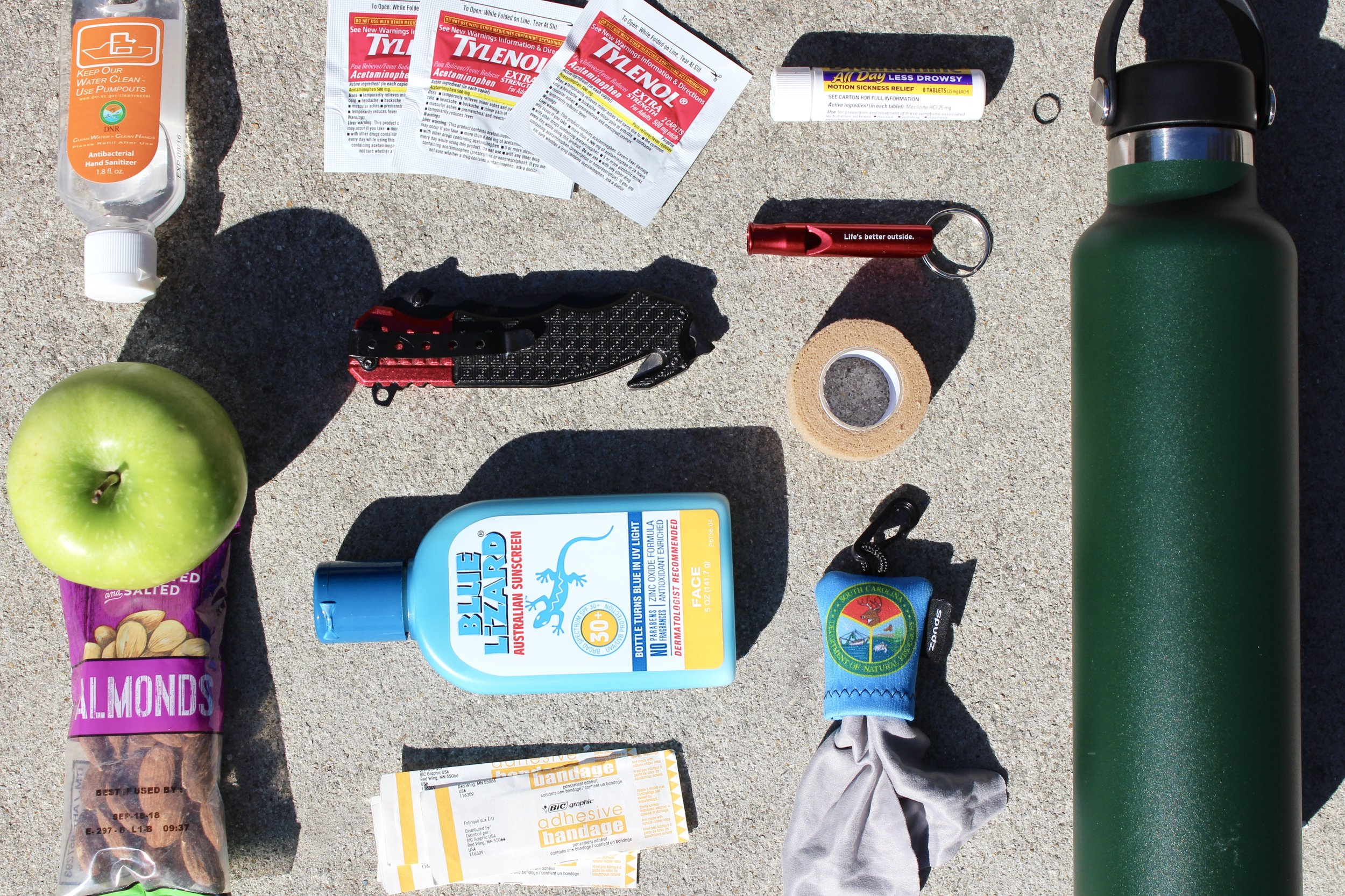 Some of the non-required essentials for a successful day on the beach or water (Photo: E. Weeks/SCDNR)