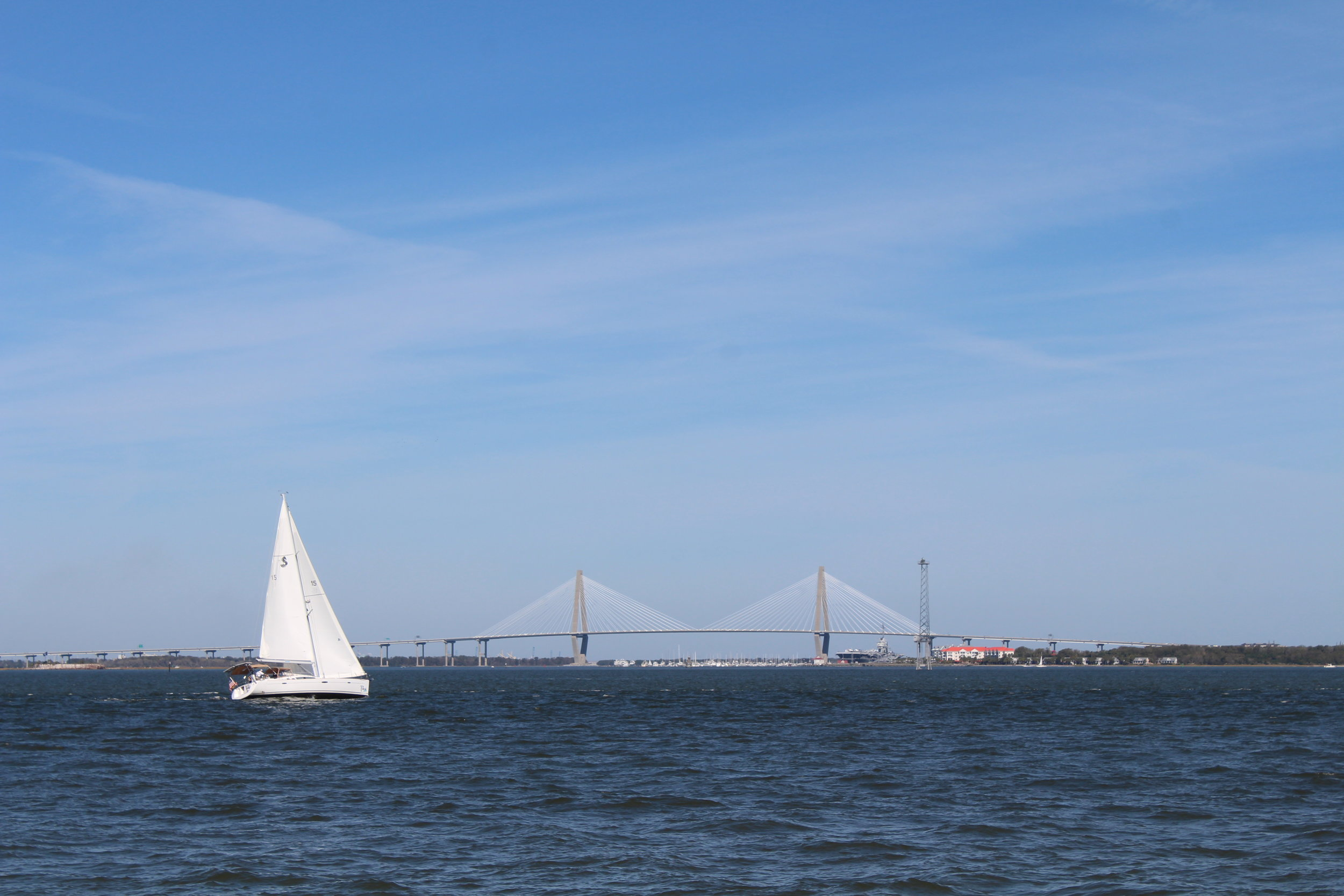Boaters and anglers can check water data in real time thanks to a new logger in Charleston Harbor. (Photo: E. Weeks/SCDNR)