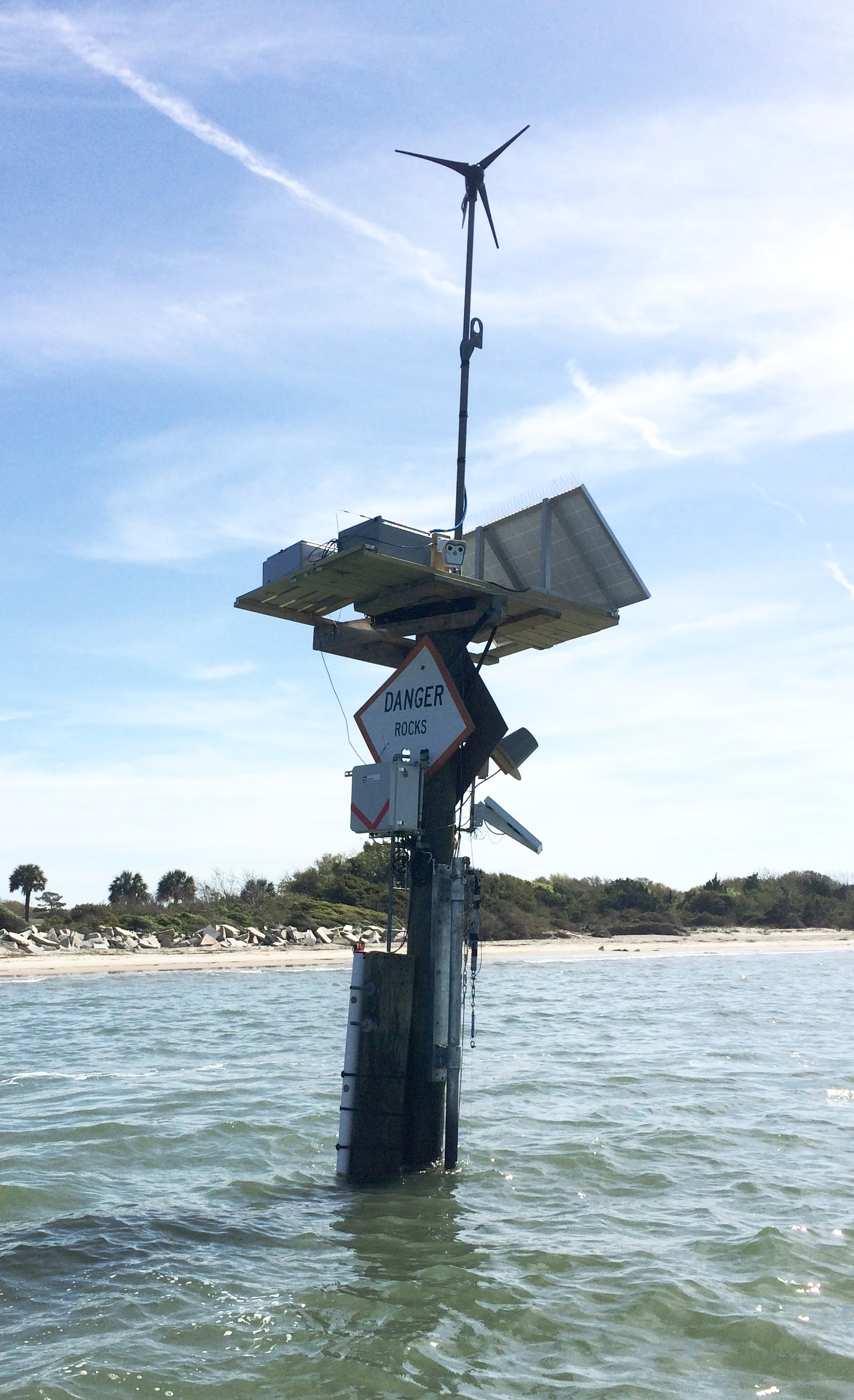 Anyone can check the information collected by this new data logger in Charleston Harbor online. (Photo: SCDNR)