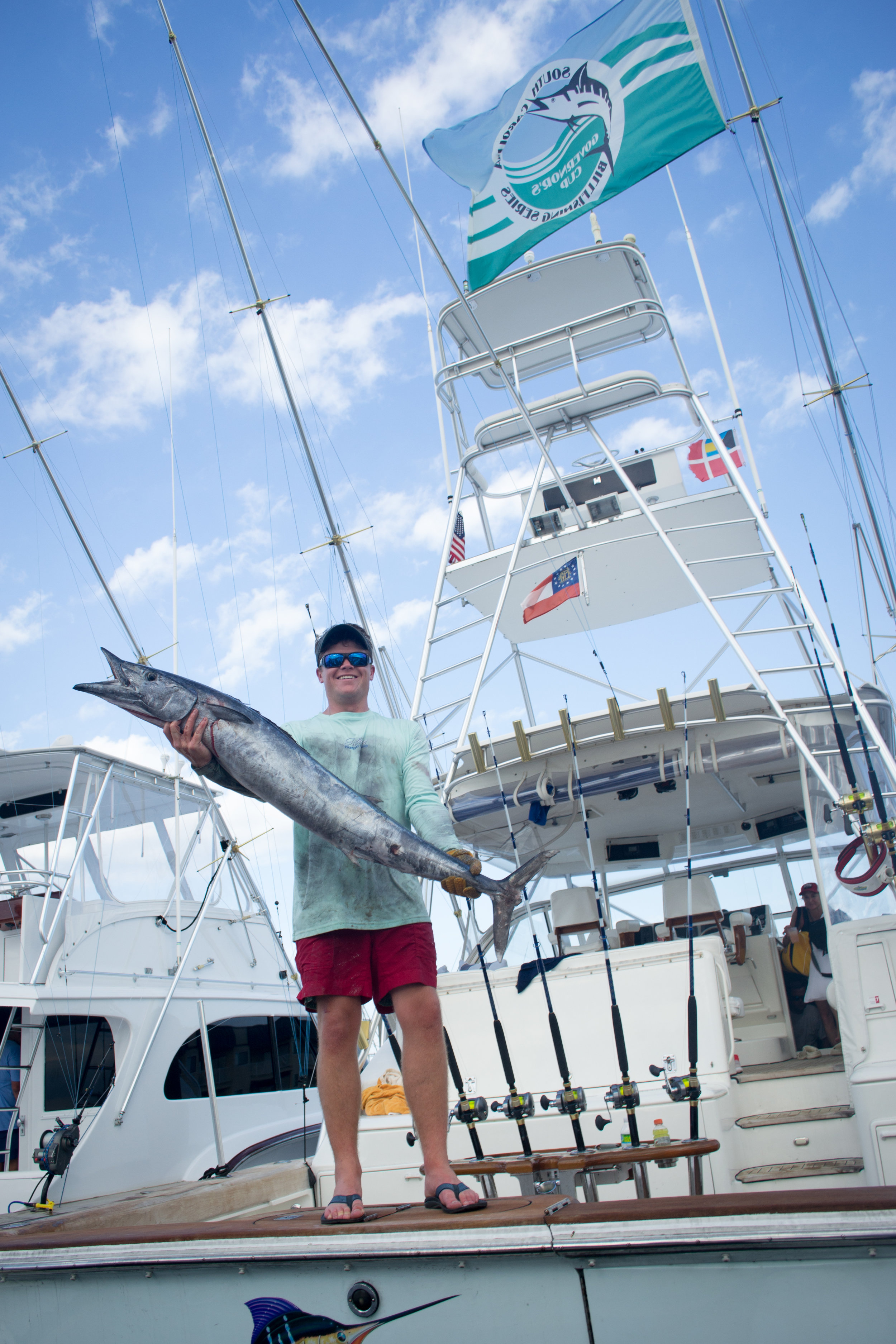 A wahoo caught aboard the Legal Holiday at the Edisto Invitational Billfish Tournament_credit Cameron J Rhodes.jpg