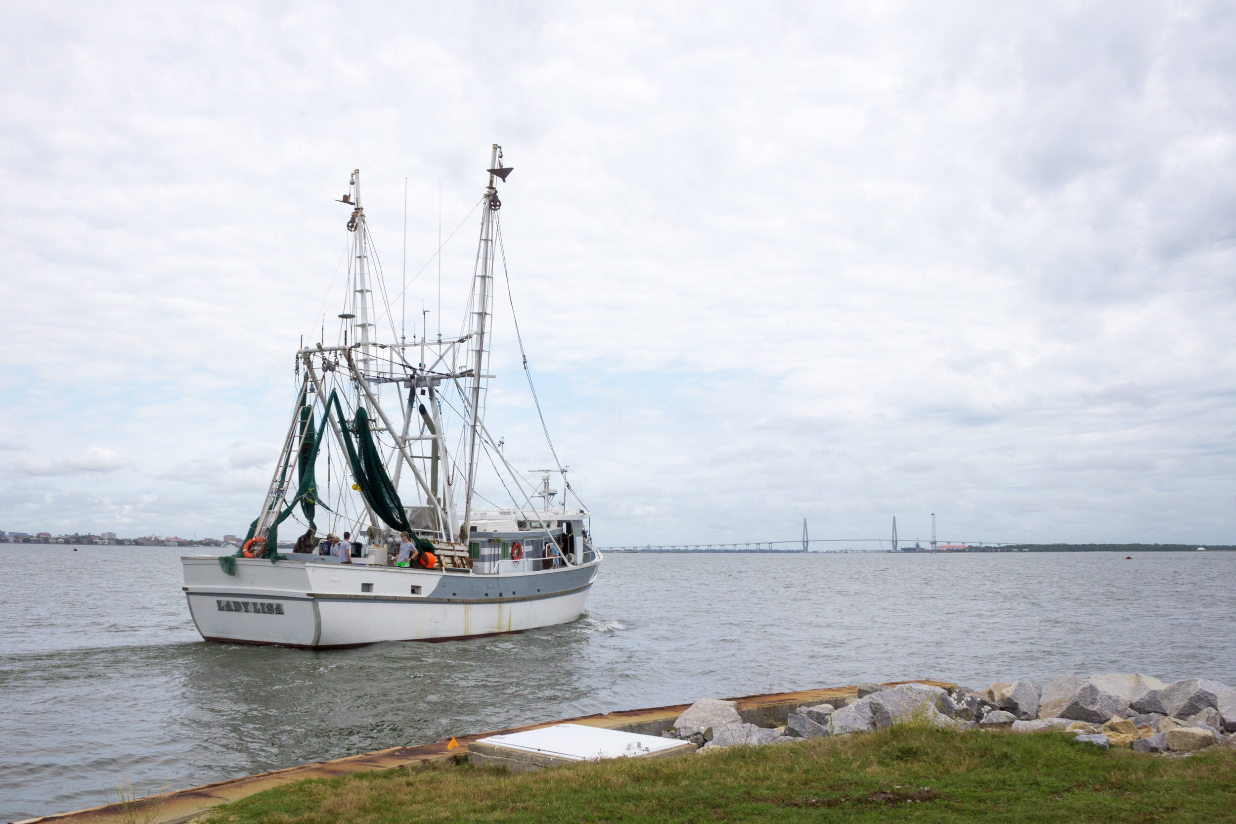 The Lisa departs for a research cruise in the northern half of South Carolina nearshore waters. (Photo: E. Weeks/SCDNR)