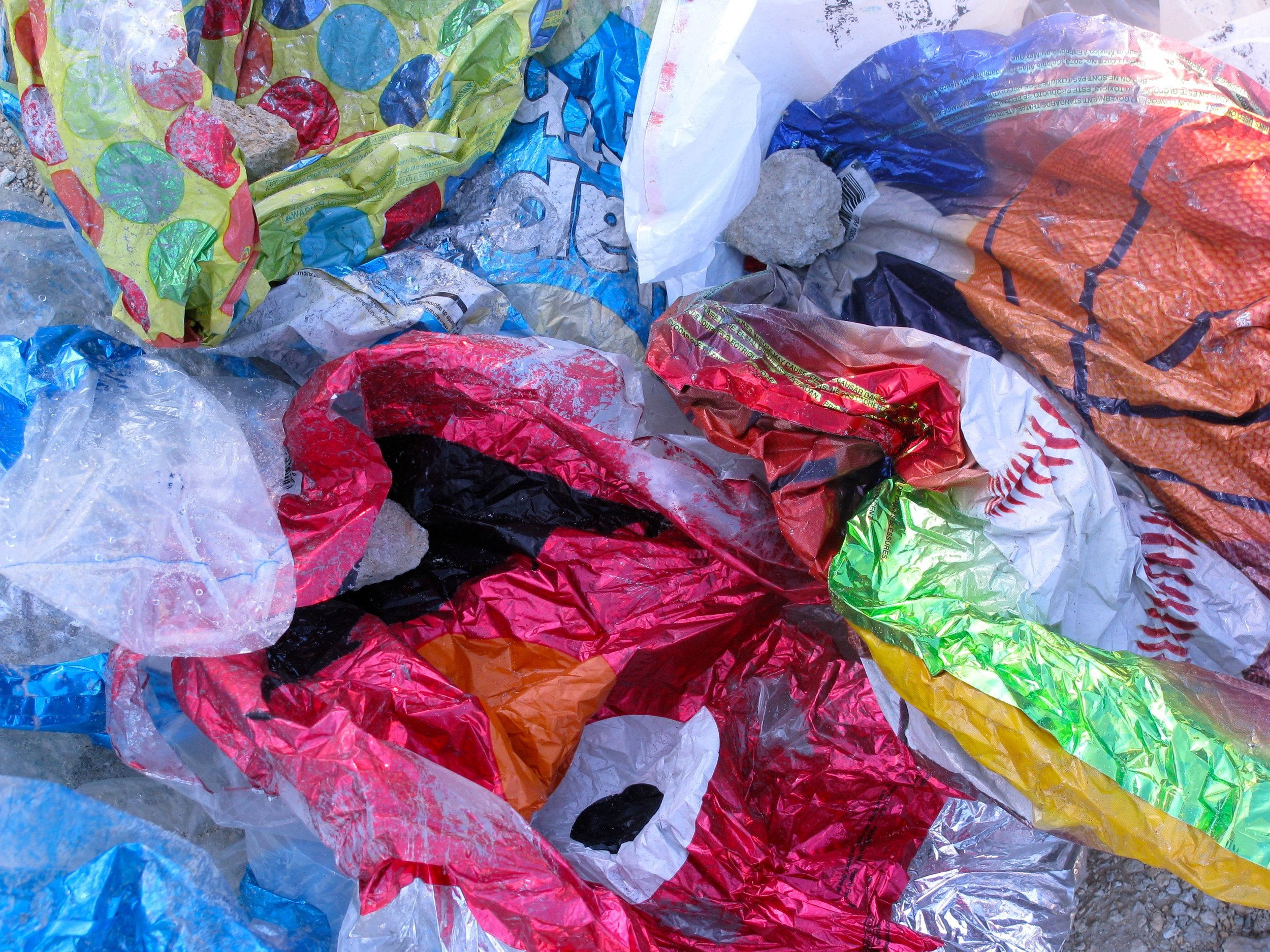Plastic and latex balloons are one of the most common trash items on South Carolina beaches. (Photo: Erin Weeks/SCDNR)