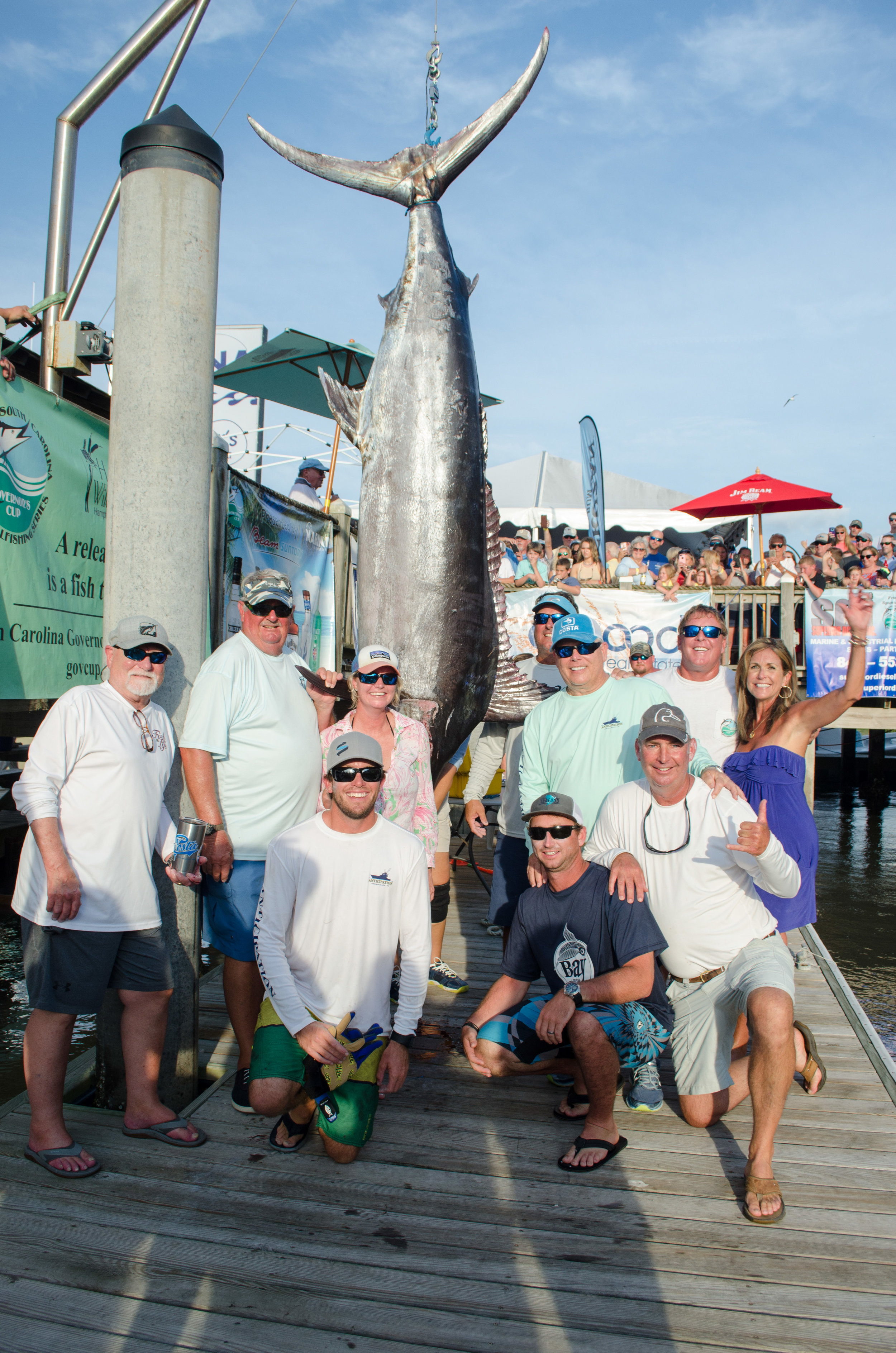 This 484.4 lb blue marlin was caught aboard the Anticipation during the Edisto Invitational Billfish Tournament last year. As mandated by the Series' wanton waste rule, the crew was required to keep the fish properly iced and to clean it for consumption. Biological samples were also collected by South Carolina Department of Natural Resources staff. Last year, the Series boasted a 99.7% billfish release rate, with 309 billfish released and only one landed.