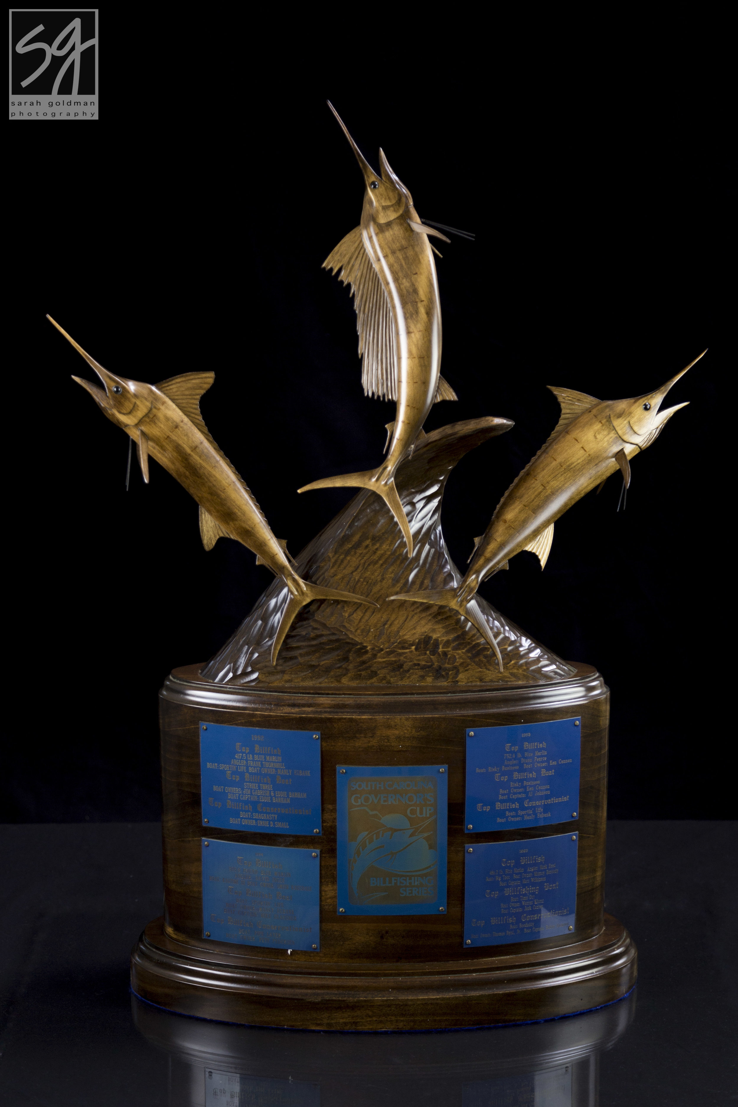 The perpetual trophy awarded annually to the top boat of the Governor's Cup_Sarah Goldman Photography.jpg
