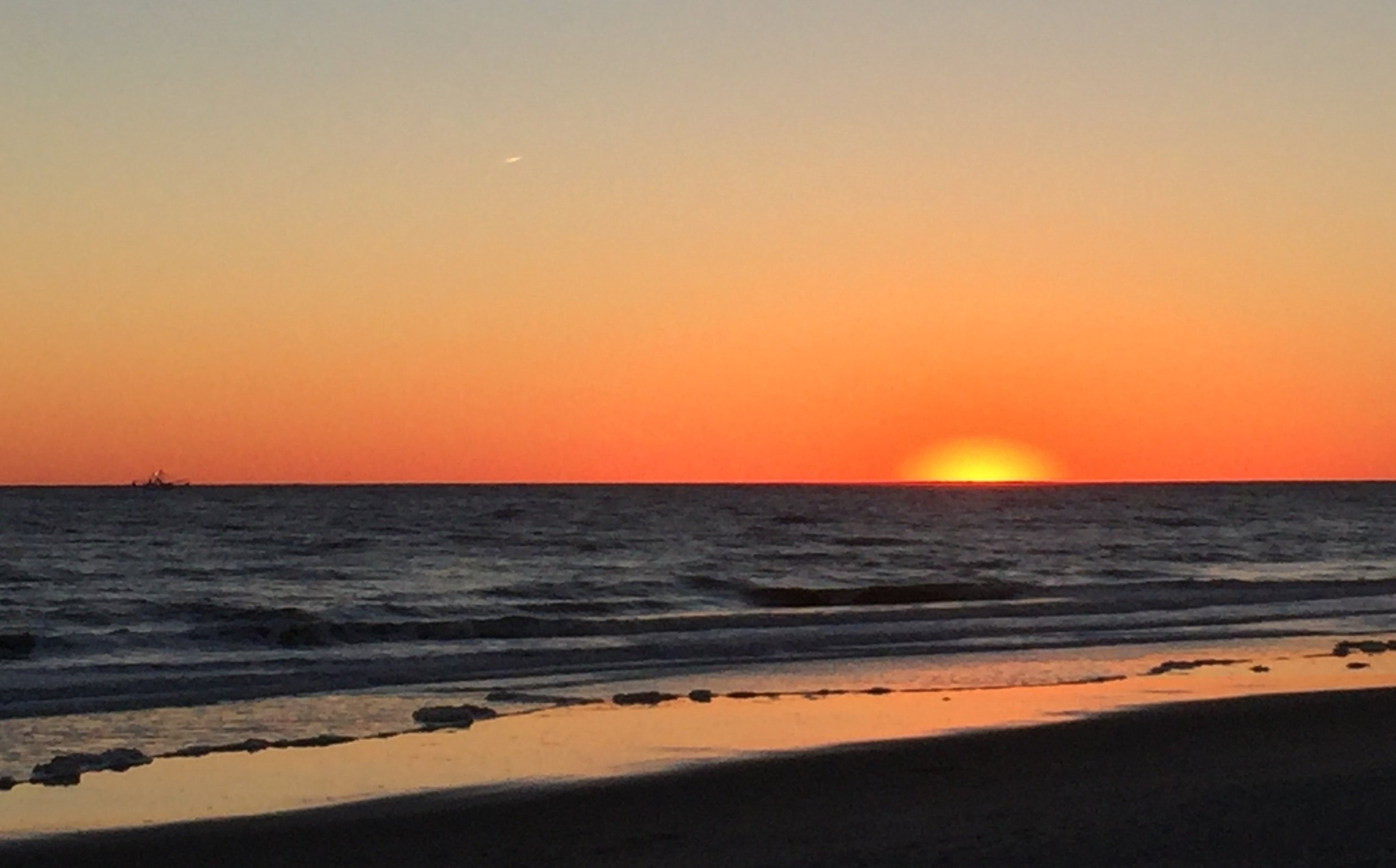 Sunset on Oak Island