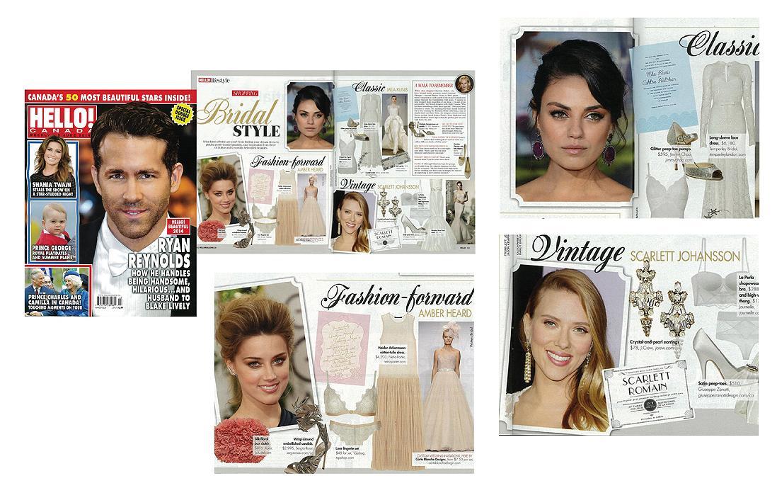Hello Magazine Celebrity Bridal Style