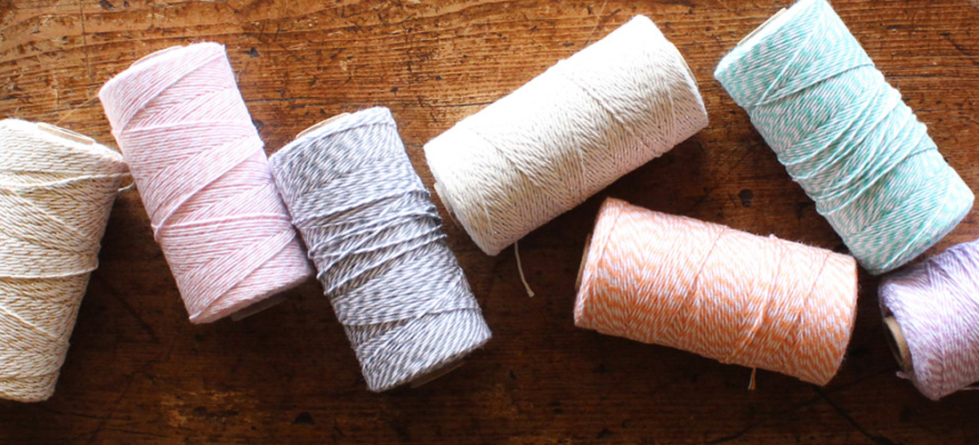 Baker's twine for wedding invitations