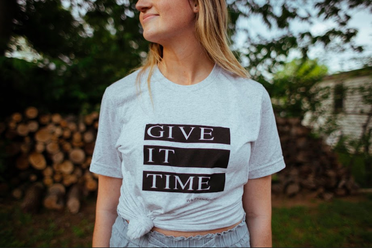 Give It Time T-shirt    Crest & Trough Co.     A very comfortable shirt you'll want to wear every day.  $22.95  From the poem ' Other ' off the EP ' Welcome to the Other Side '