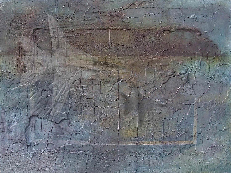 Desert Threnody IV mixed media on board 91x121cm 2000-04