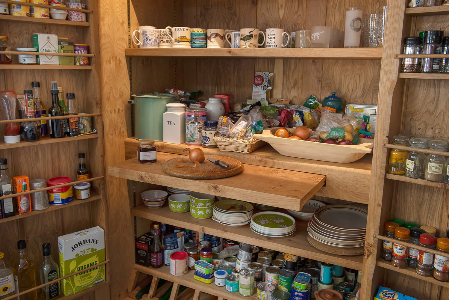 Hide all your kitchen paraphernalia with a lovely spacious larder