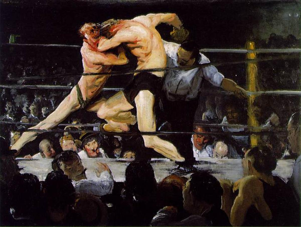 """George Bellows, """"Stag at Sharkey's"""" (1909)"""