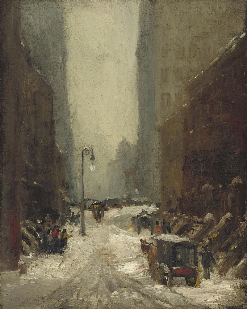 "Robert Henri, ""Snow in New York"" (1902)"