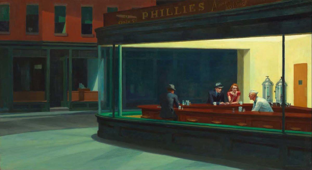 """Edward Hopper, """"The Nighthawks"""" (1942)"""
