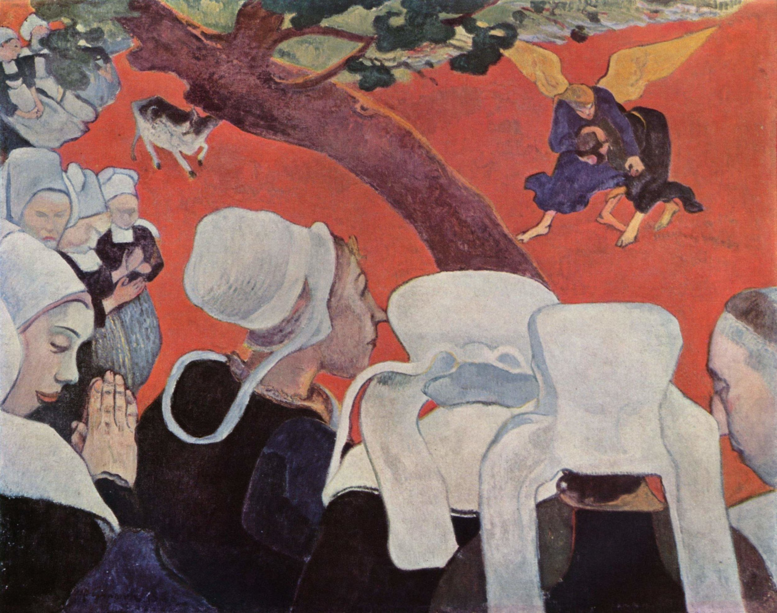 """Gauguin, """"The Vision After the Sermon"""" (1888)"""
