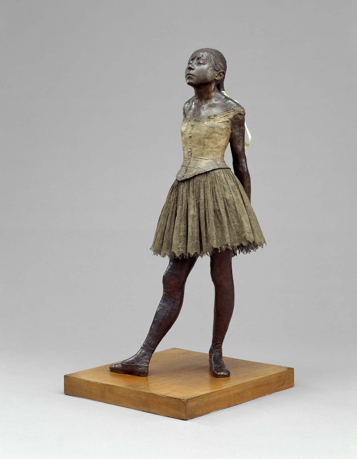 """Degas, """"Little Fourteen-Year-Old Dancer"""" (original model 1878–81, cast after 1921)"""