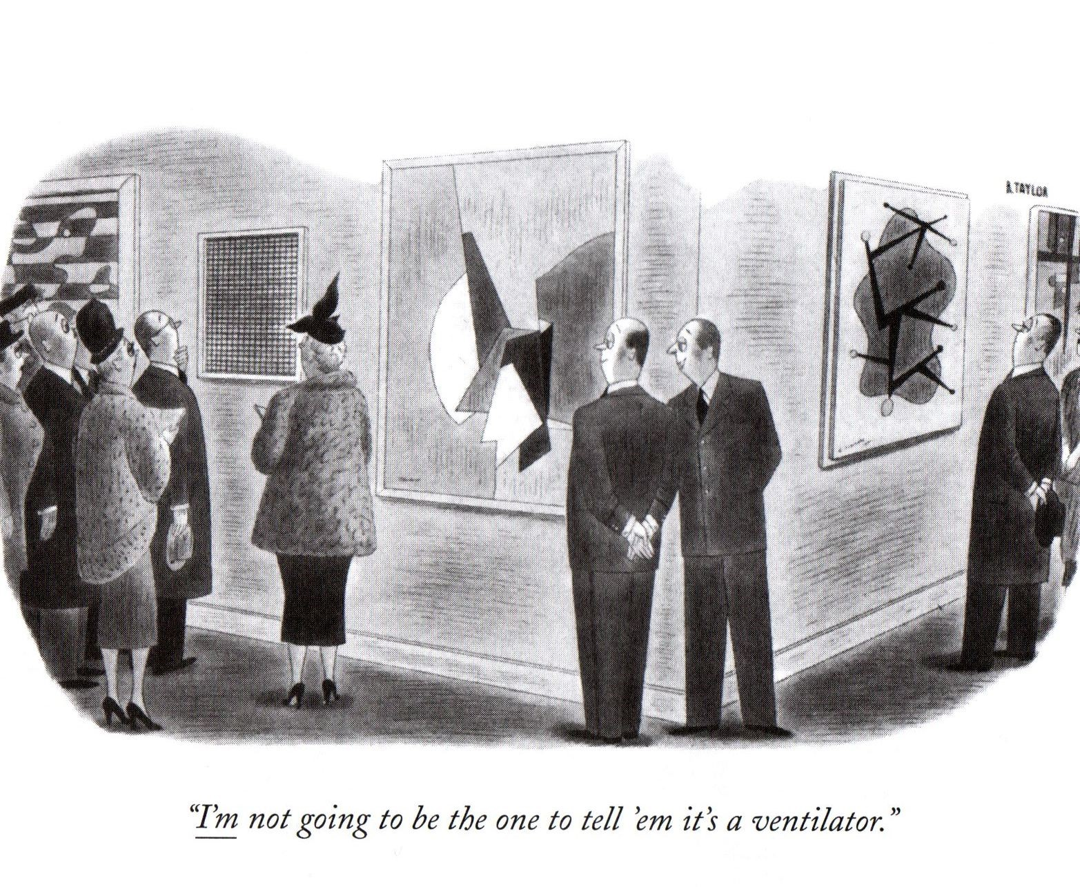 "Cartoon from ""The New Yorker"" by R. Taylor"