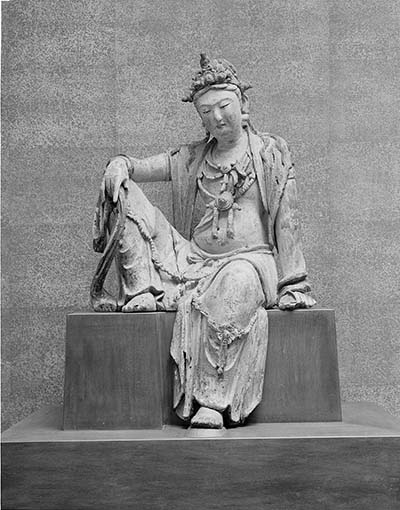 The Guanyin when it first arrived at the MFA