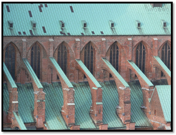 Gothic flying buttresses.