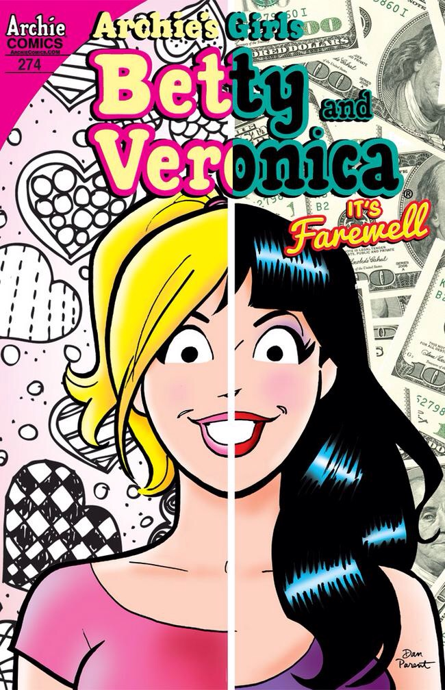 My beloved Betty and Veronica: same face, different hairdos.  A cost-effective literary sugar rush.     Image via  Nerdspan .