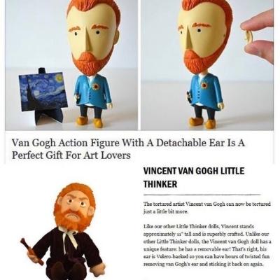 Examples of ear-obsessed Van Gogh slingers