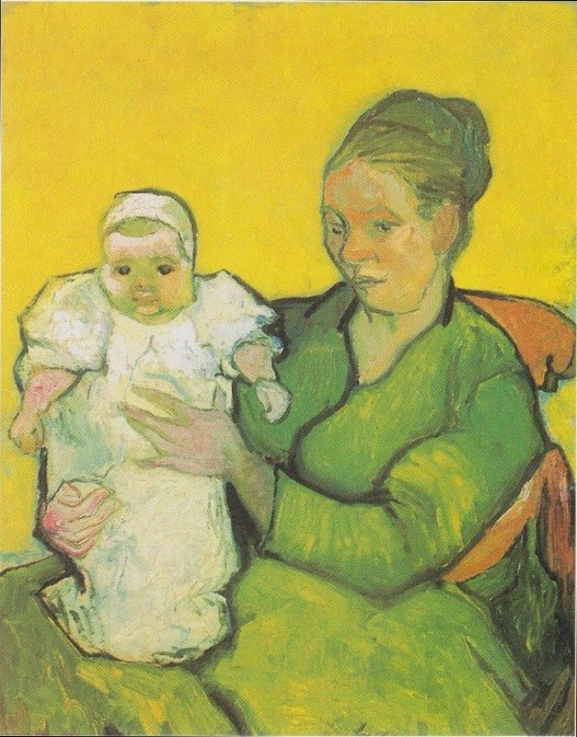 """Van Gogh, """"Portrait of Madame Augustine Roulin and Baby Marcelle"""" (1888)"""