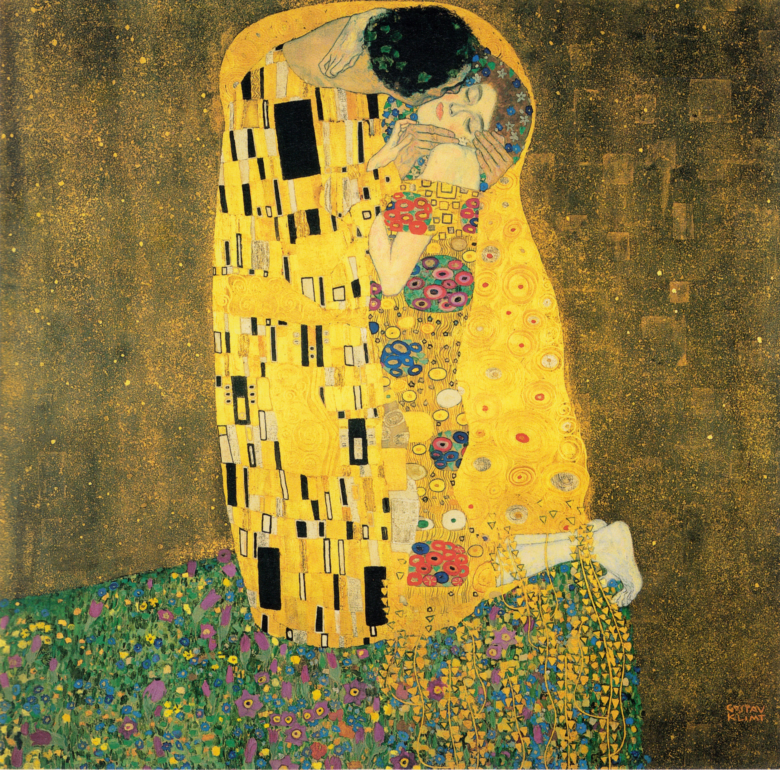 "Gustav Klimt, ""The Kiss"" (1907-08)"