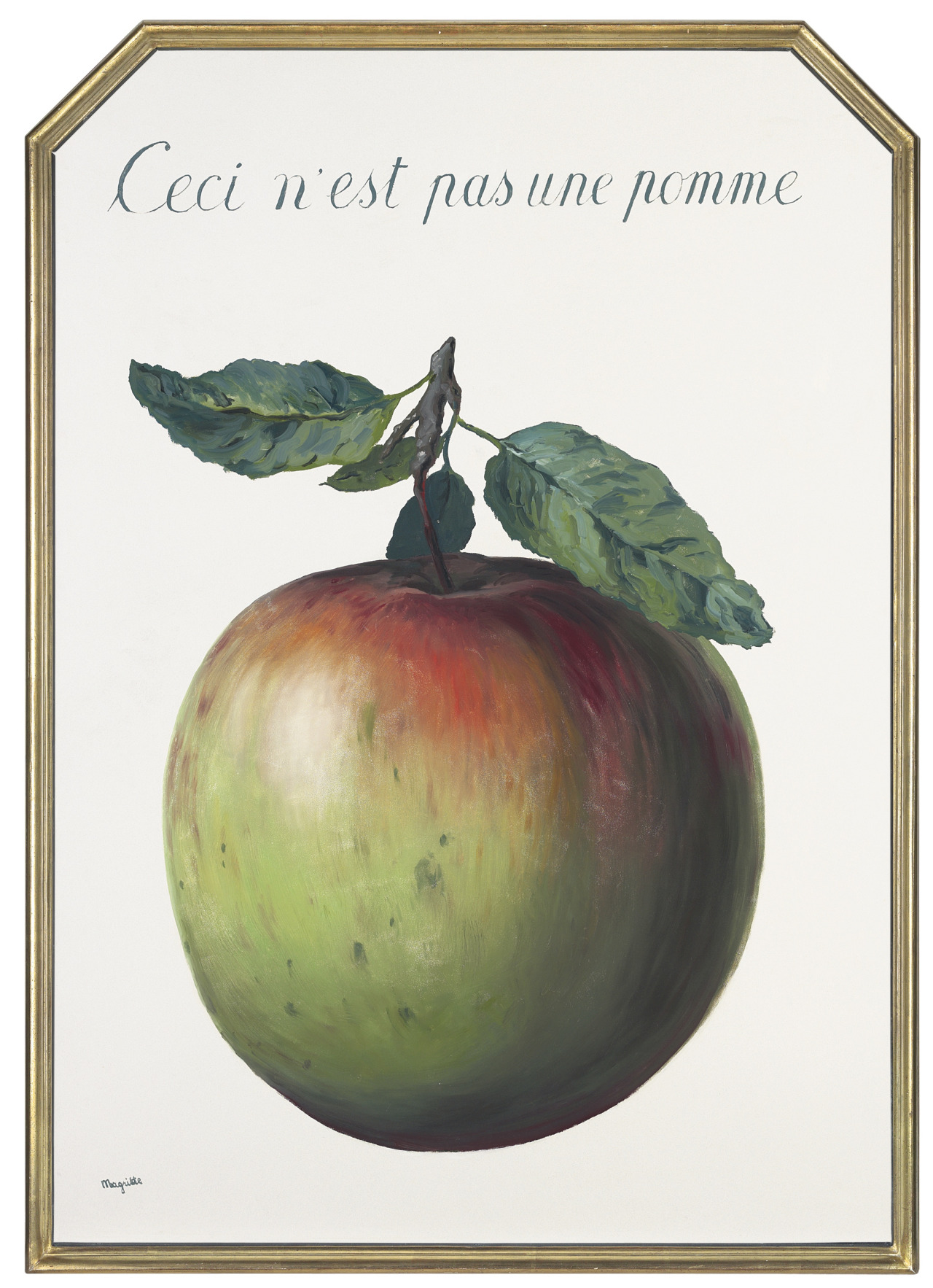 """René Magritte, """"This is Not An Apple"""" (1964)"""