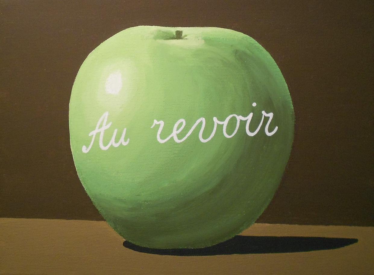 """René Magritte, """"Au Revoir"""" (1966)"""