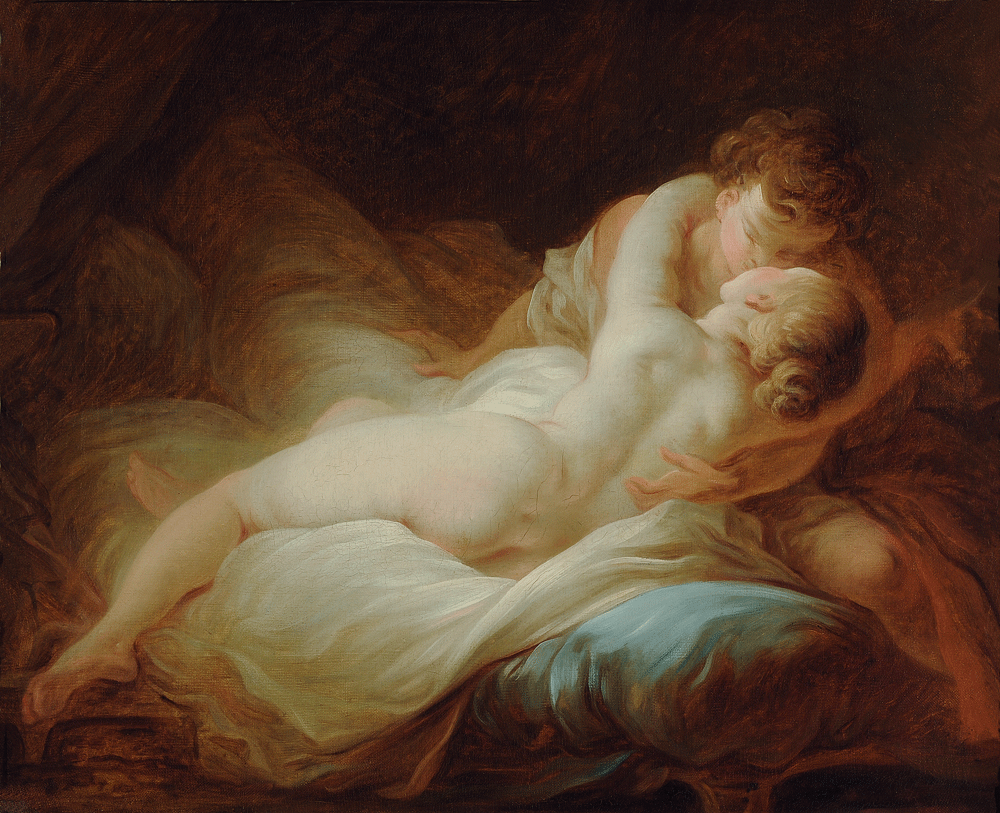 "Jean-Honoré Fragonard, ""The Desired Moment"" (c. 1770)"