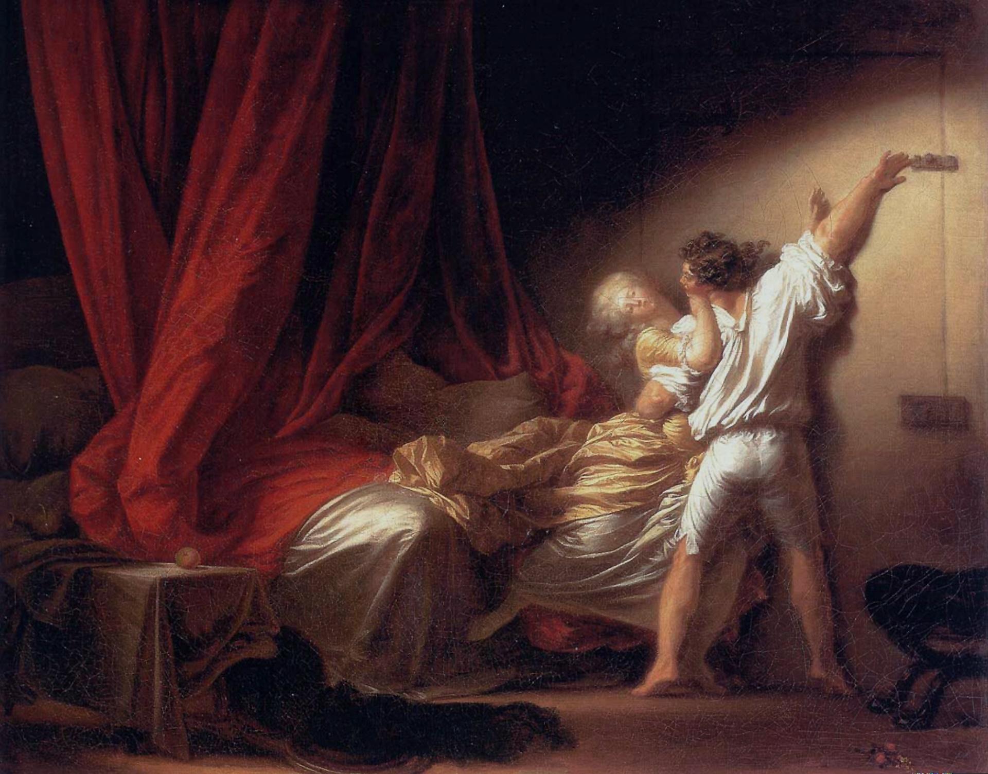 """Jean-Honoré Fragonard, """"The Bolt"""" (1777)"""