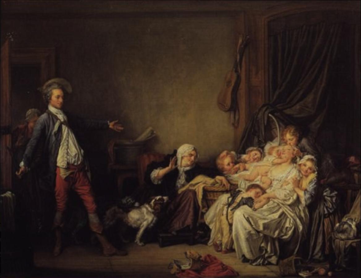 """Jean-Baptiste Greuze, """"The Beloved Mother"""" (c. 1769)"""