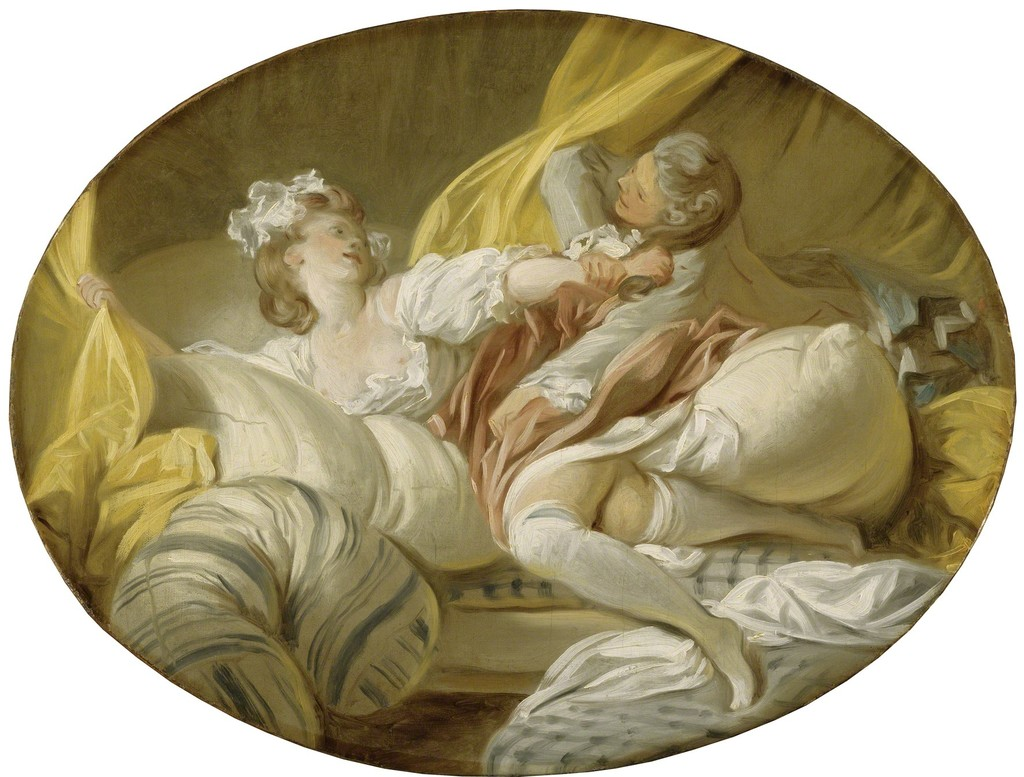 "Jean-Honoré Fragonard, ""Useless Resistance"" (1770-1773)"