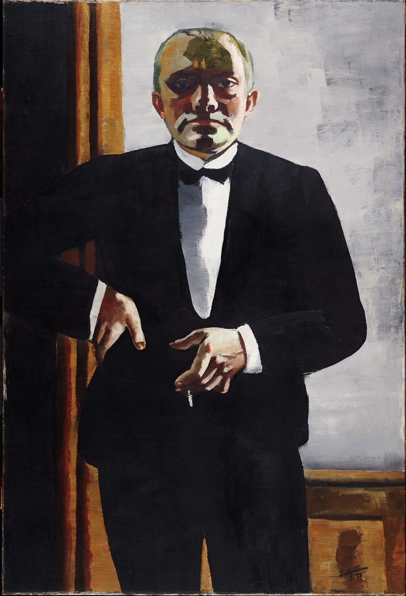 "Max Beckmann, ""Self Portrait in Tuxedo"" (1927)"