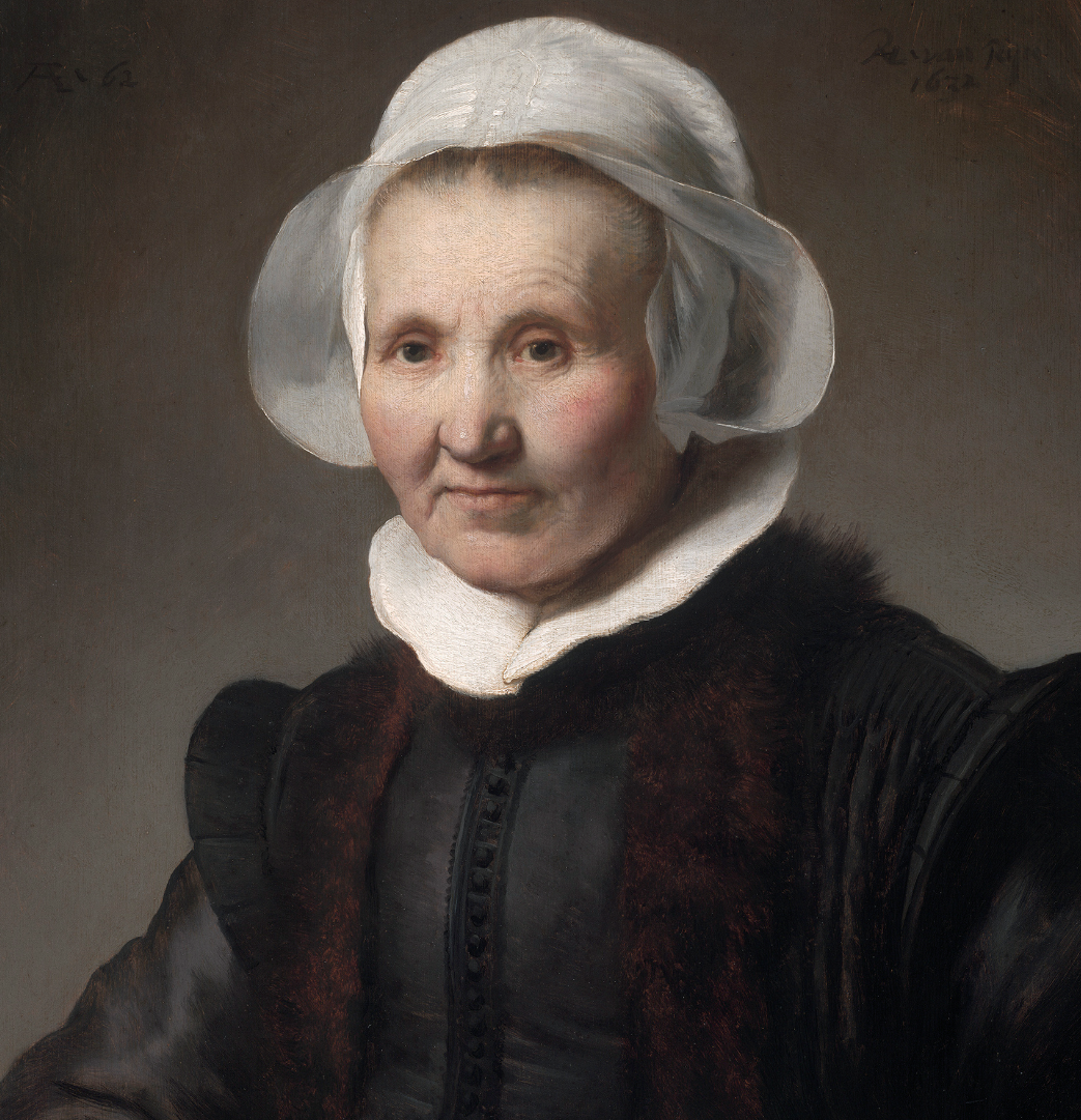 Detail of Portrait of Aeltje Uylenburgh.