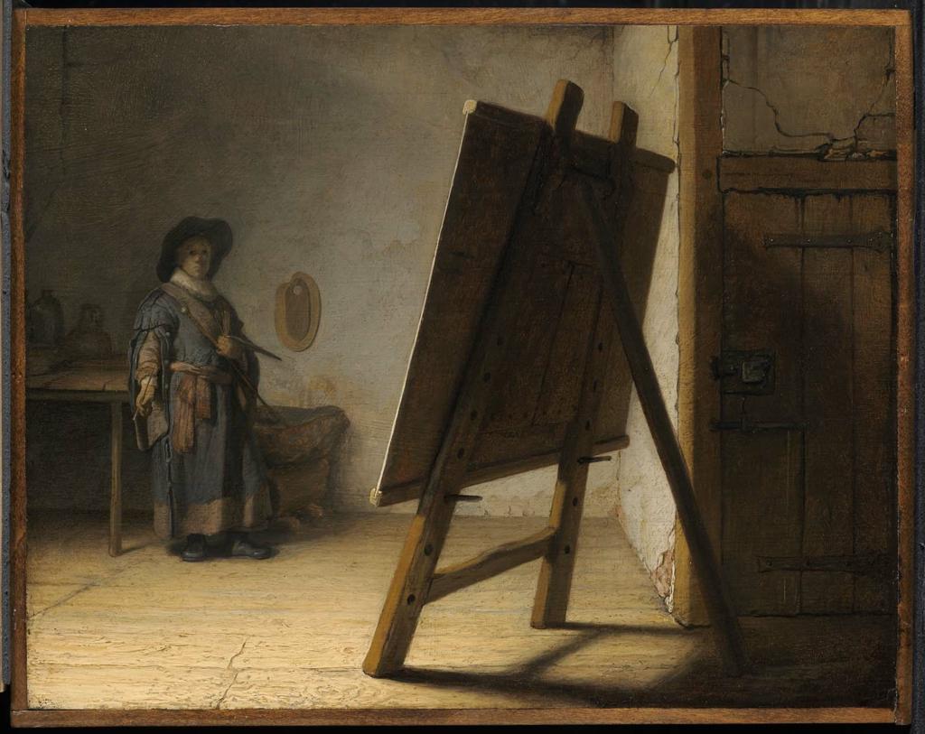 """Rembrandt van Rijn, """"Artist in his Studio"""" (c. 1628)"""
