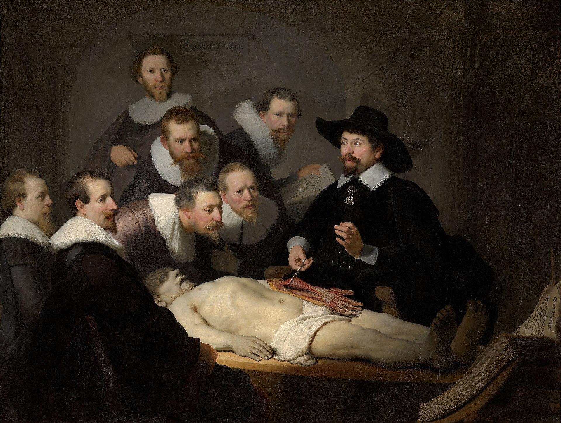 "Rembrandt van Rijn, ""The Anatomy Lesson of Dr. Nicolaes Tulp"" (1632)"