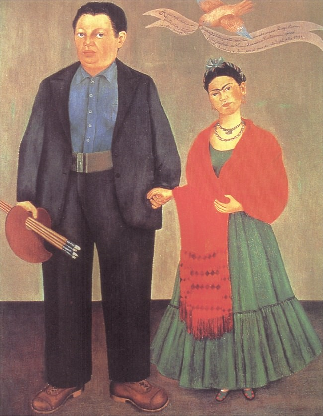 """Frida Kahlo, """"Frieda and Diego Rivera"""" (1931)"""