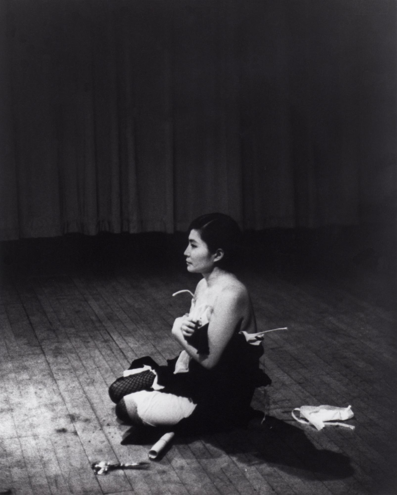 """Detail from Yoko Ono, """"Cut Piece"""" (1964)"""