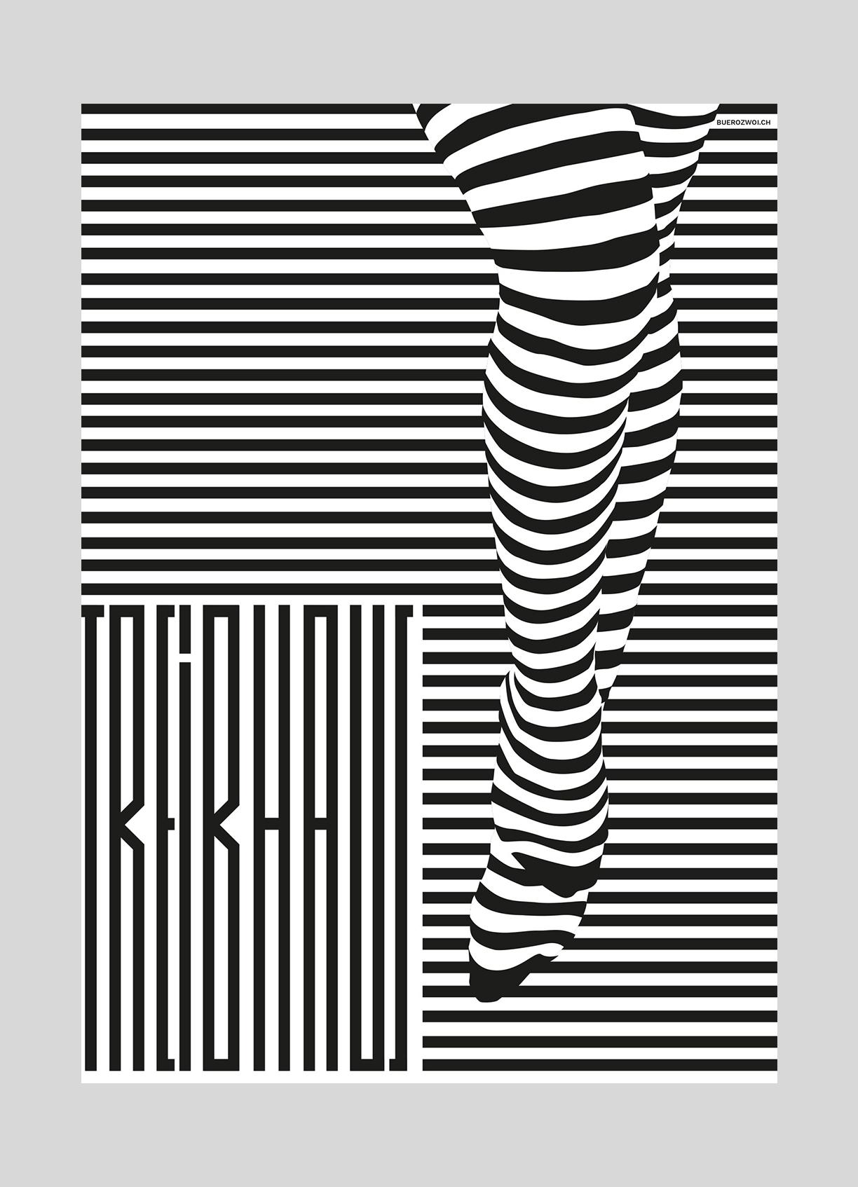Treibhaus Luzern – Monatsplakat Juni   2016  Jugendhaus Luzern, Plakate jeweils von verschiedenen Grafikern gestaltet.