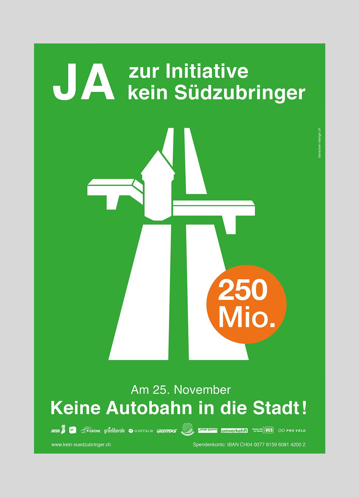 JUSO Stadt Luzern – Kein Südzubringer | 2012  Volksinitiative der JUSO Stadt Luzern gegen die geplante Autobahneinfahrt «Südzubringer»