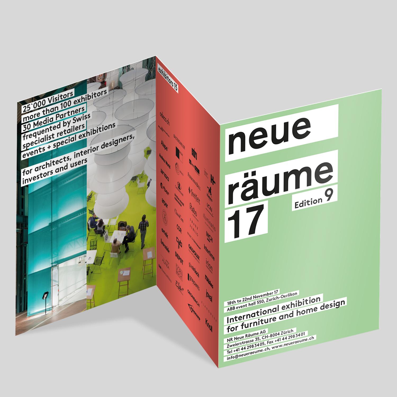 NR Neue Räume AG – Leporello «Neue Räume 17» | 2016