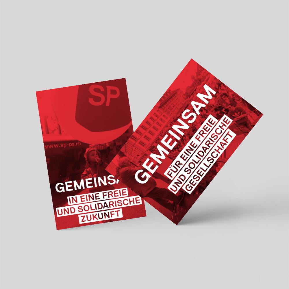 SP Schweiz – Visitenkarten «Mitgliedergewinnung» | 2016