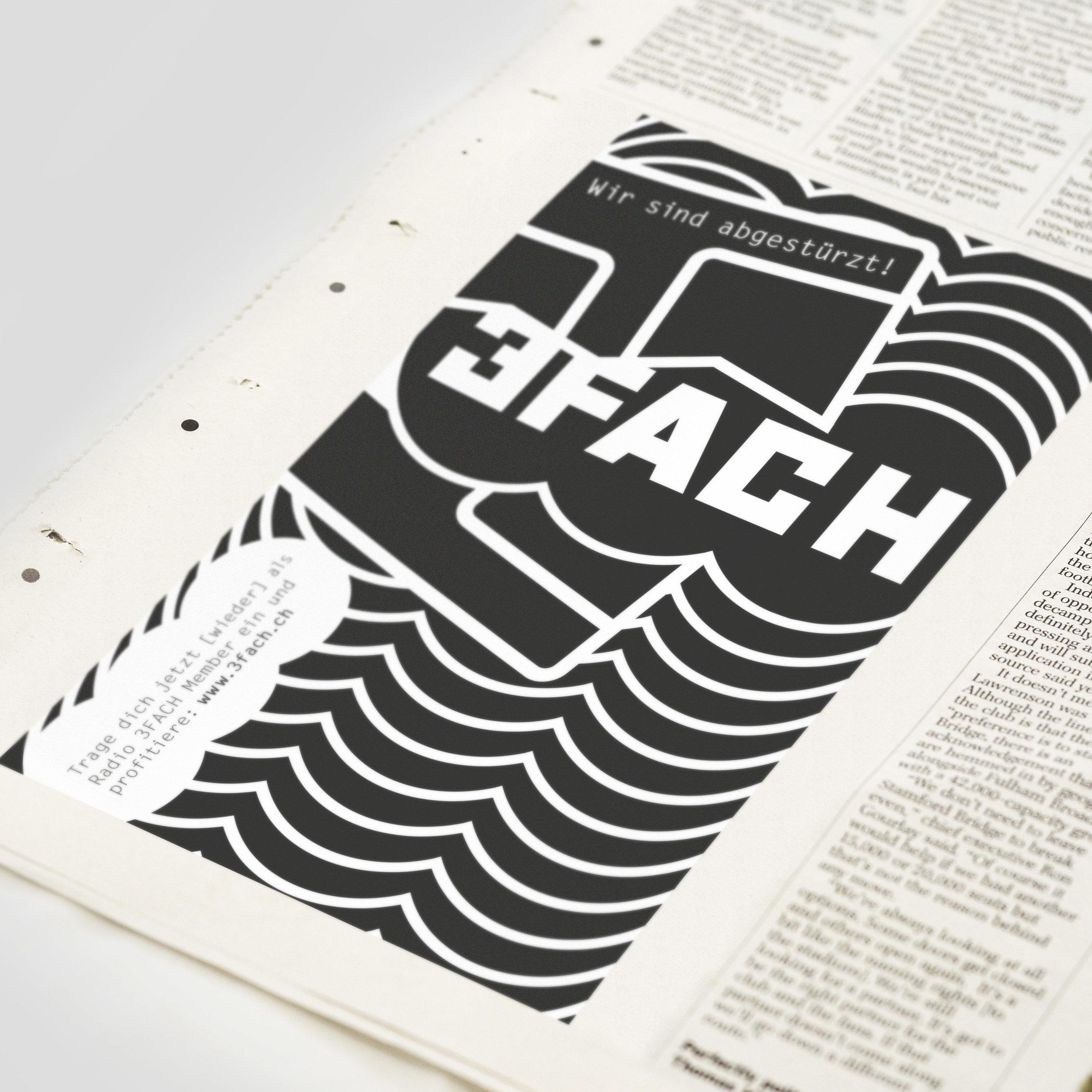 Radio 3FACH – Inserat «Absturz» | 2014