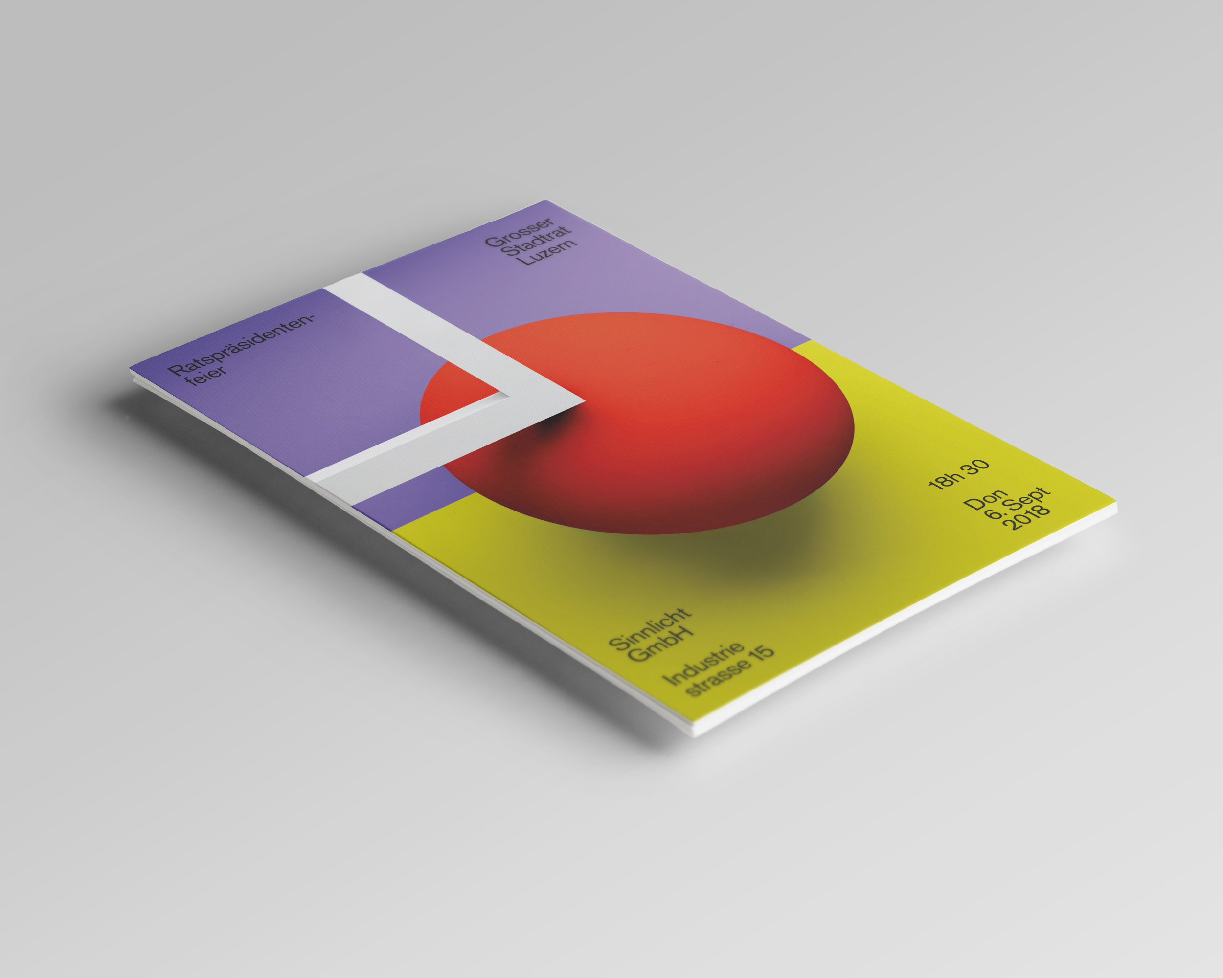 Daniel Furrer –Einladungskarte «Ratspräsidentenfeier» | 2018