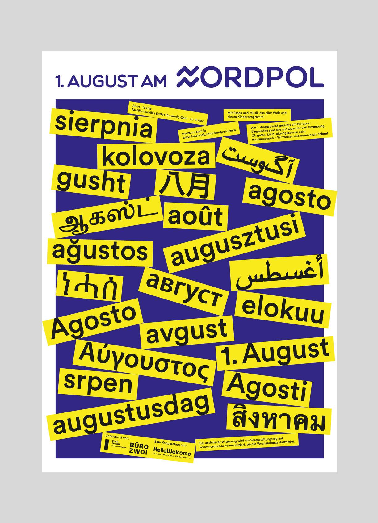 Nordpol – 1. August   2018  Die sommerbar Nordpol in Luzern lud am ersten August zum offenes Quartierfest für jung und alt.