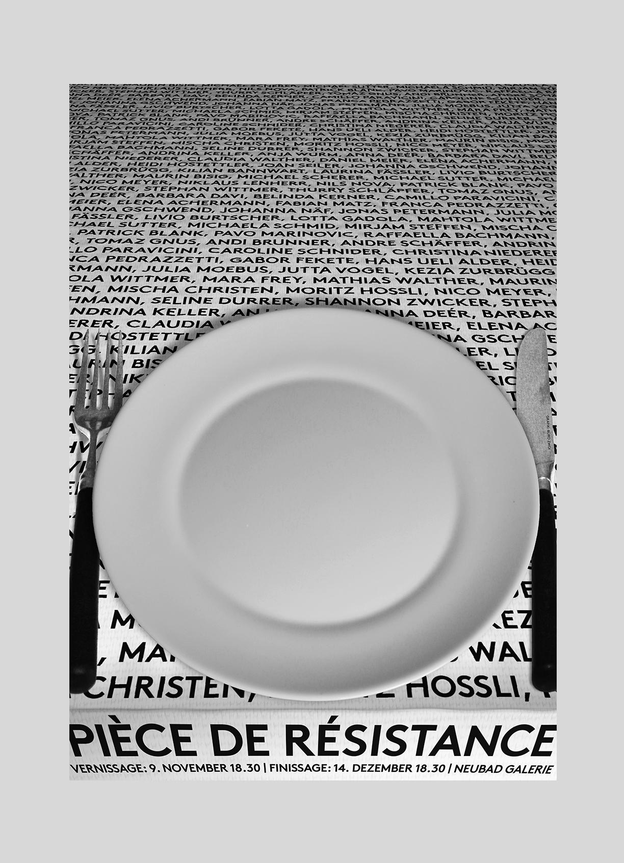Neubad – Pièce de Résistance   2018   50 regionale KünstlerInnen und FotografInnen finden in der Neubad Galerie zusammen.